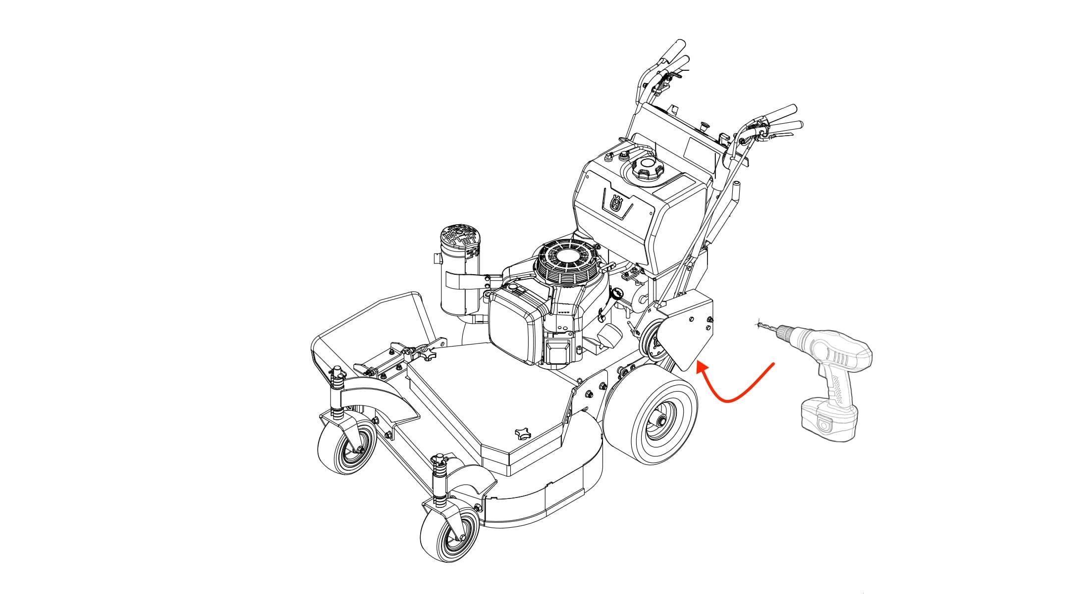 Checkmate Lawn Striper For Husqvarna W400 Series Engine Diagram Installation Schematic